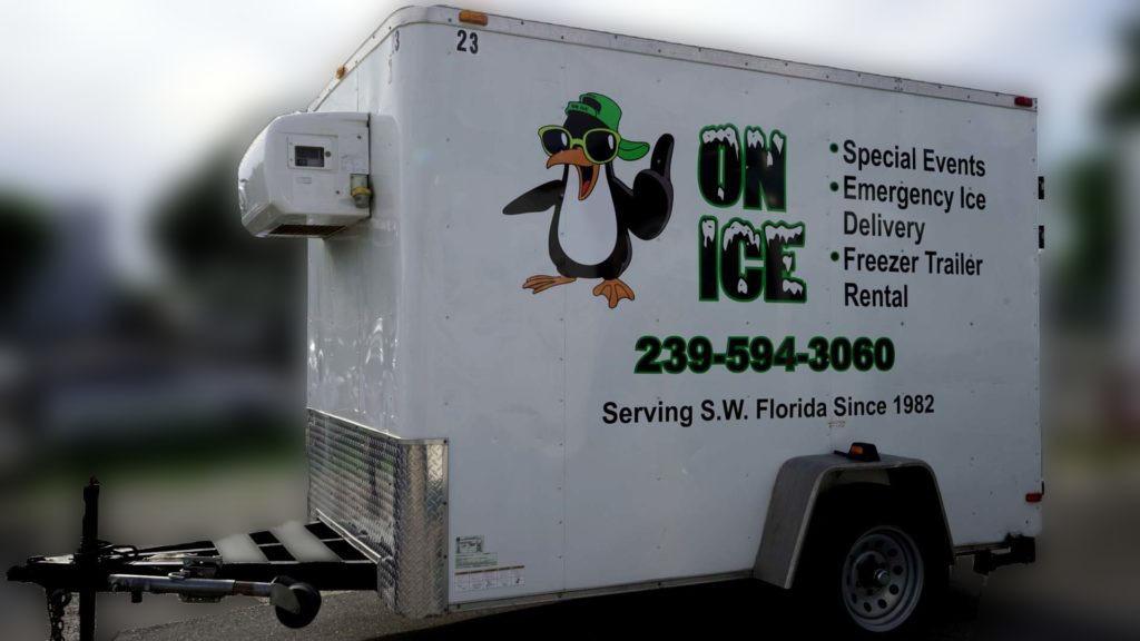 single axle freezer trailer